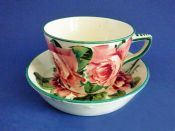 Wemyss Ware 'Cabbage Roses' Cup and Saucer c1910